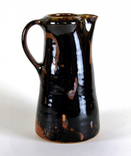 Small tenmoku jug by Edward Hughes