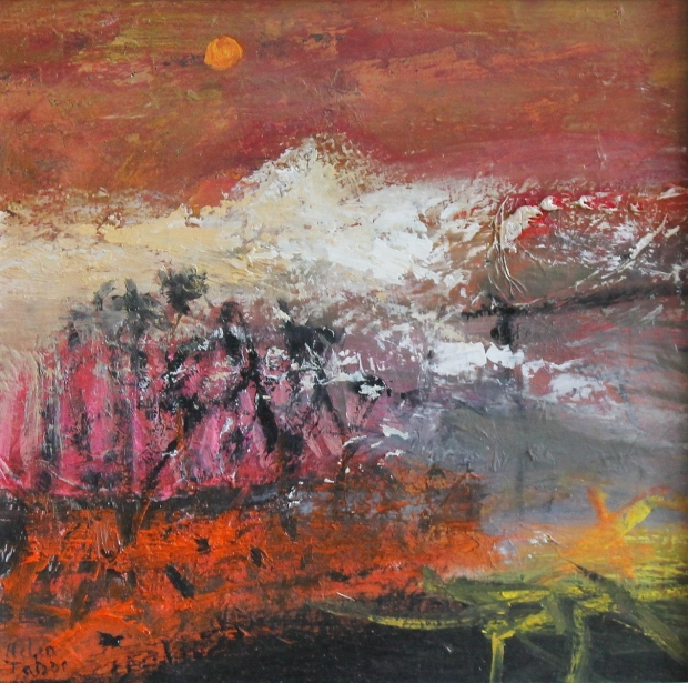 Snow on the hills by Helen Tabor