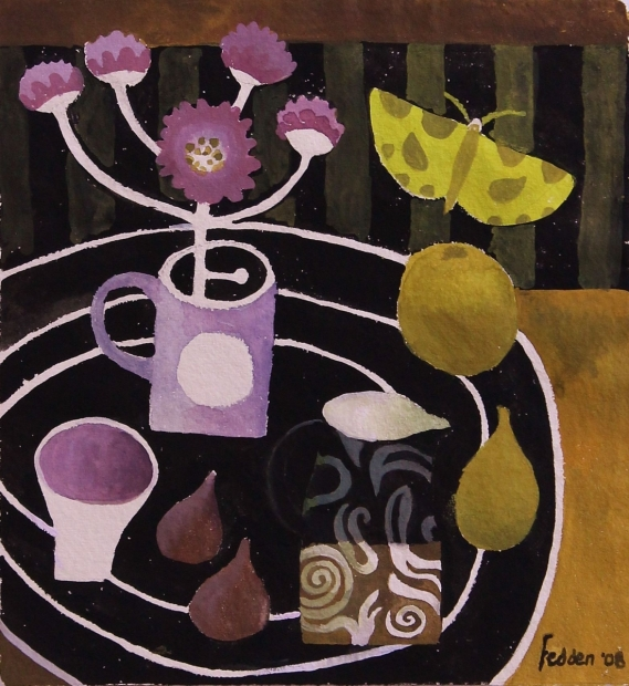 Table with Rings by Mary Fedden  RA