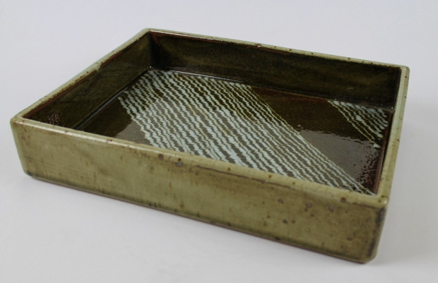 Deep sided tray with feather slip by Edward Hughes