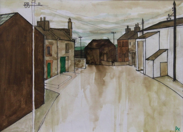West Cumbrian Village by Percy Kelly