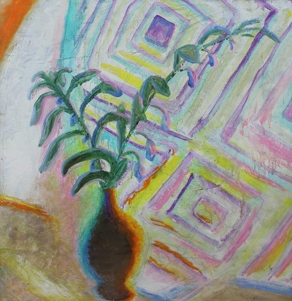 Geometric Curtain by Winifred Nicholson